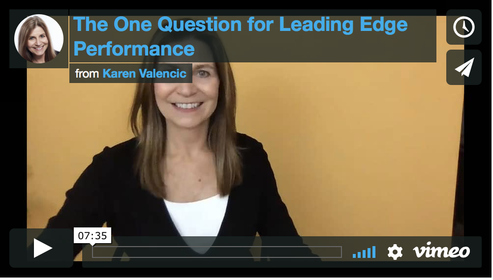 Ahh-Yes!  The One Question to Ask Yourself for Leading Edge Performance